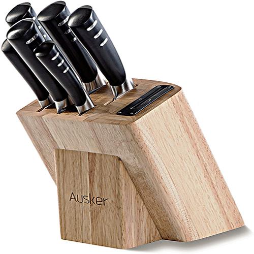 Ausker Kitchen Knife Set with Wood Block