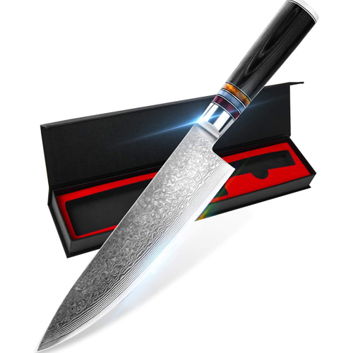 YAIBA 8 Inch Japanese Chef Knife - Best Japanese chef knife under 100