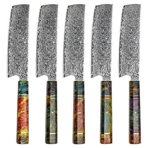 Damascus steel kitchen knives - Hajegato knives review